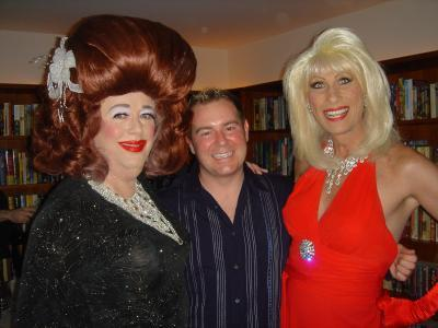 Ethel Merman with our co-emcees, Greg the Gay Sportscaster and Donna Sachet